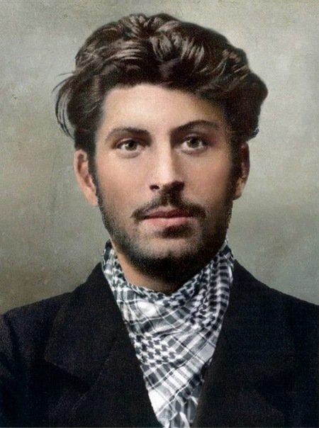 Молодой И.В. Сталин. колоризация, личности, портреты