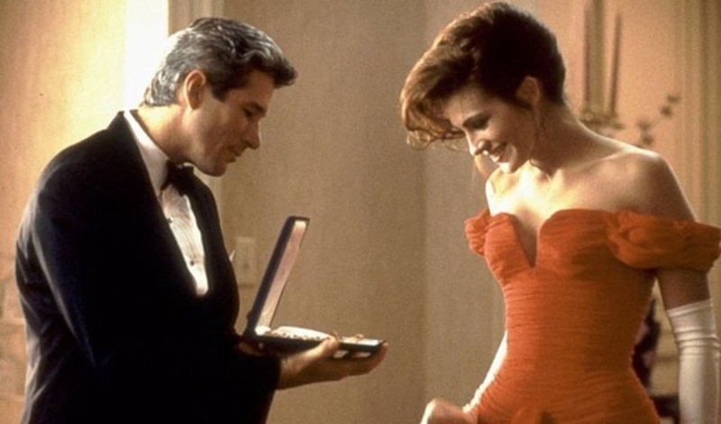 6. Ожерелье Ричард Гир, джулия робертс, красотка, познавательно, факты, фильм