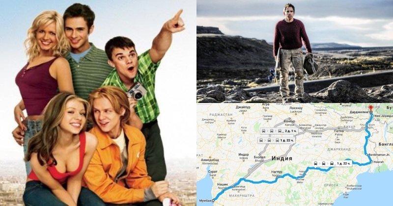 Кинопутешествия: 5 маршрутов из популярных фильмов карты, кино, маршруты, путешествие