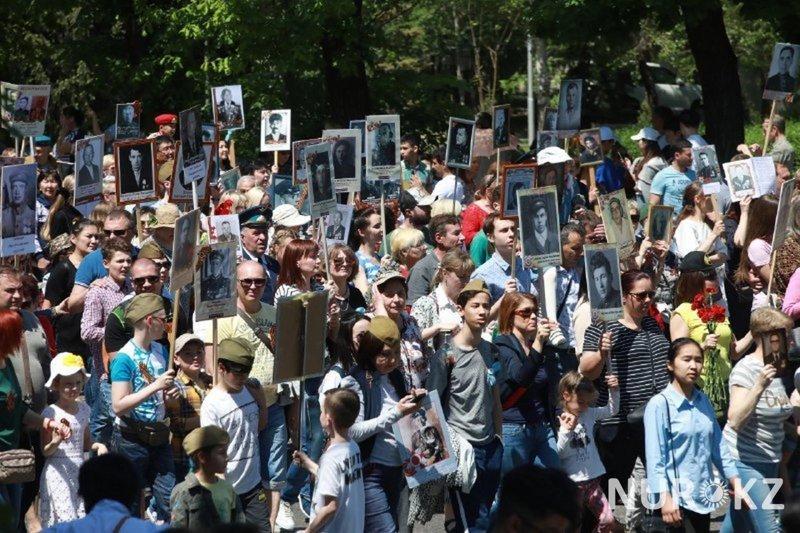 """Это наша сила"""": 120 тыс. человек пришли на """"Бессмертный полк"""" в Алматы 9 мая, День Победы 2018, алма-ата, алматы, бессмертный полк"""