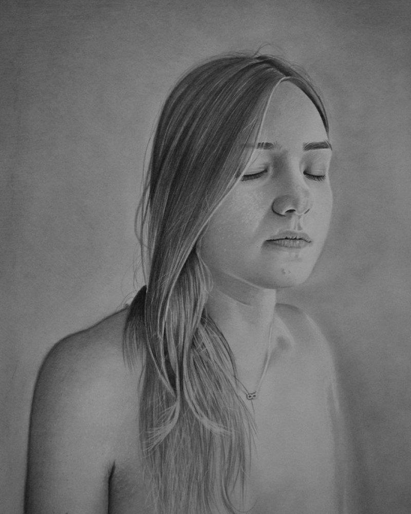 Он родился без рук, но несмотря на это, рисует портреты и скоро откроет свою выставку в Нью-Йорке Мариуш Кедзерский, буз рук, искусство, картина, люди, портрет, художник