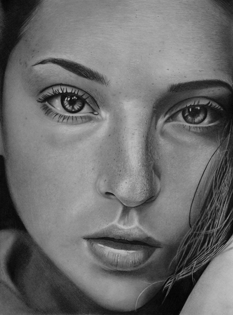 ...и рисует невероятно реалистичные портреты! Мариуш Кедзерский, буз рук, искусство, картина, люди, портрет, художник
