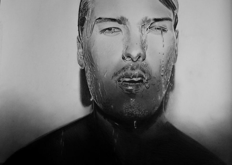 Вот некоторые из его работ: Мариуш Кедзерский, буз рук, искусство, картина, люди, портрет, художник