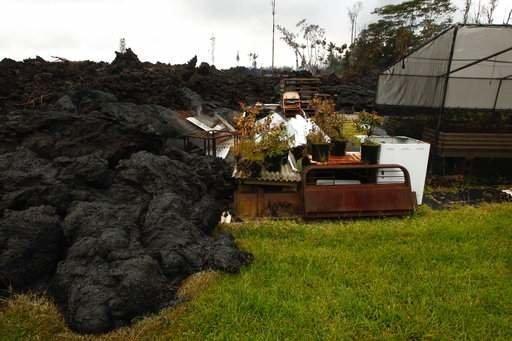 Многие жилища погребены под потоками лавы Kilauea, hawaii, ynews, гавайи, извержение вулкана, стихия