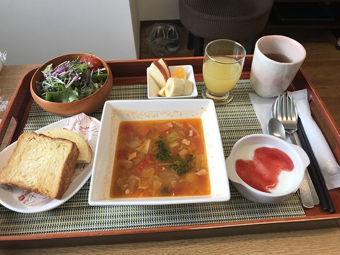 Суп на завтрак  блюдо, еда, пища, родильный дом, роженица, фото, япония