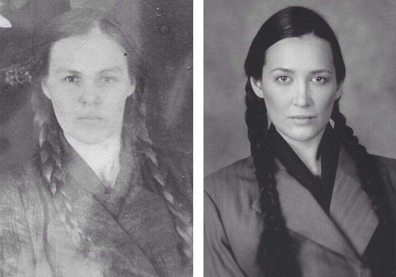 2. Таша Рублева справа и ее прабабушка, Татьяна Савельевна, слева Великая Отечественная Война, живая победа, о войне, проект, фото