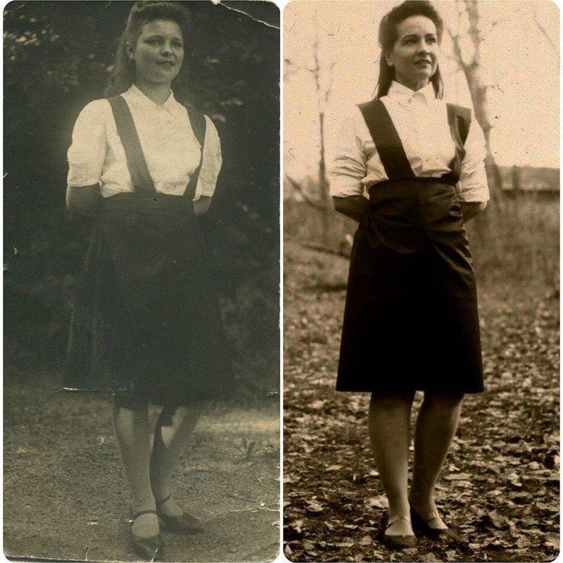9. Между этими кадрами более 70 лет, героини никогда не видели друг друга, однако для того, чтобы помнить и гордиться достаточно лишь одного снимка Великая Отечественная Война, живая победа, о войне, проект, фото