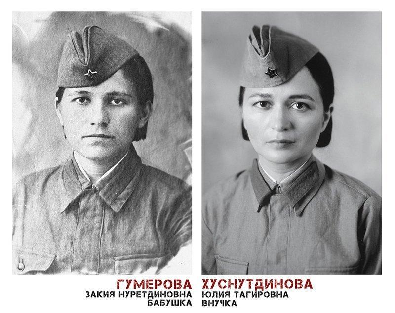 3. Как вы уже поняли, современные фотографии, потомки участников войны - справа Великая Отечественная Война, живая победа, о войне, проект, фото