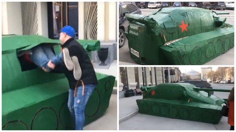 На улицах Новосибирска была замечена новая Lada War Edition ynews, авто, видео, интересное, танк, тюннинг, украшение