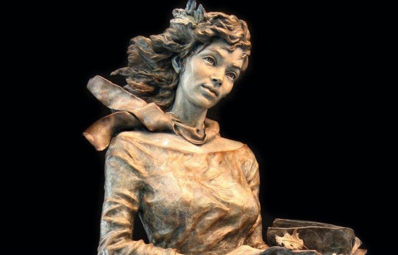 """Анджела Миа де ла Вега скульптор, работающий с бронзой и иными материалами. Ее скульптурами  из серии """"Детство"""" украшены многие парки мира интересное, искусство, красота, лица, скульптура, талант"""