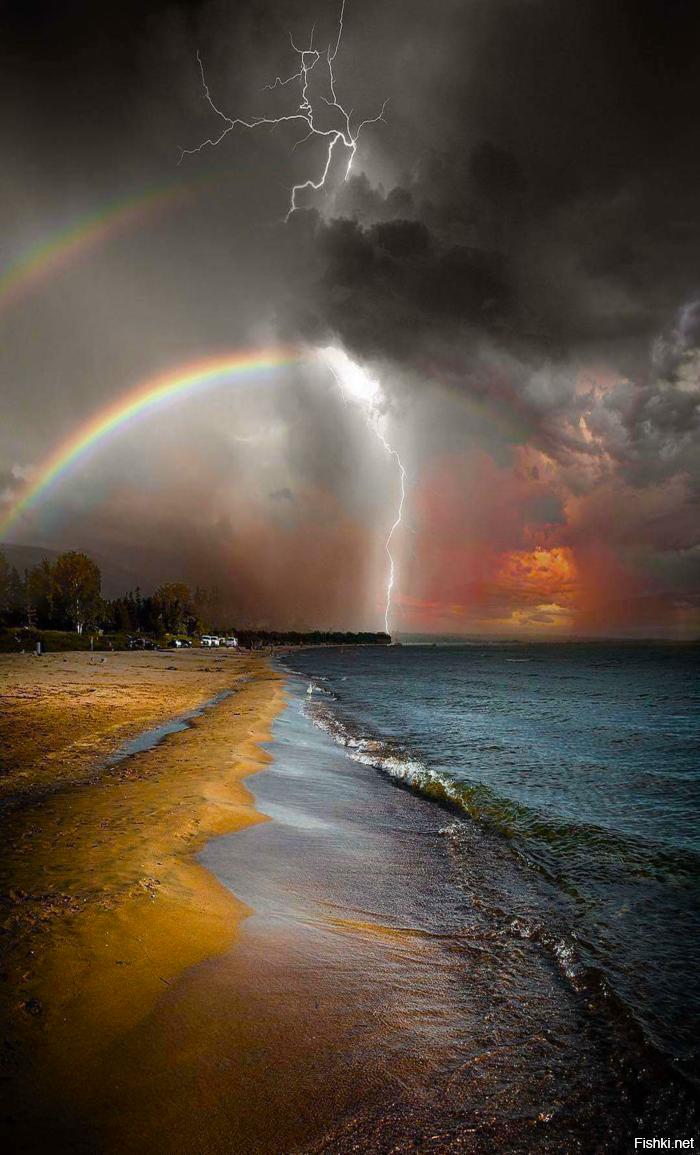 картинки радужные молния