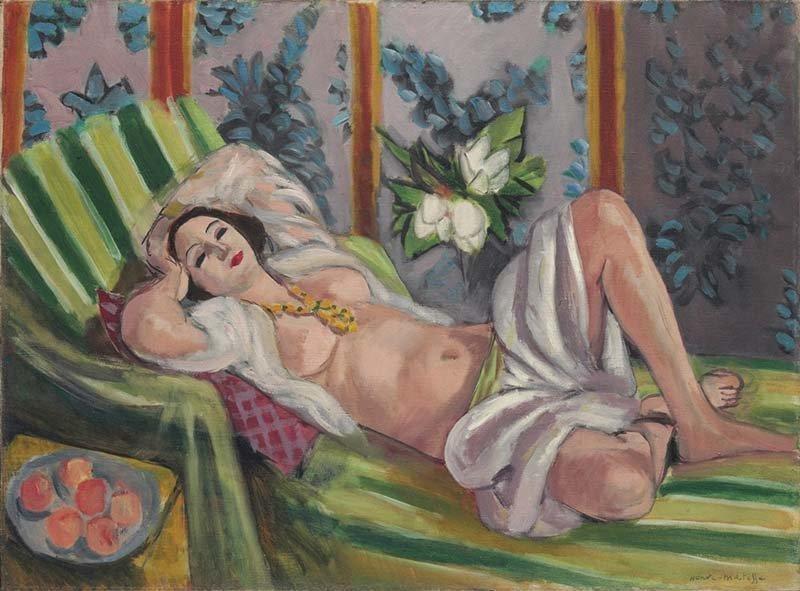 «Одалиска, лежащая под магнолиями», Анри Матисс аукцион, искусство, картина, коллекция Рокфеллера, художник