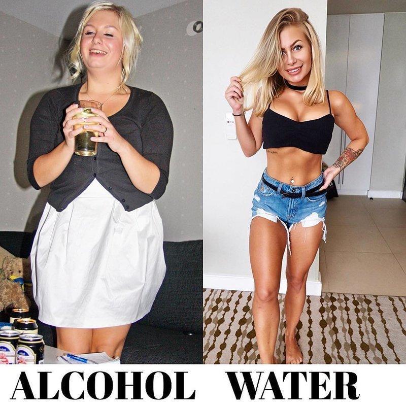 Блогерша показала, как отказ от выпивки сказался на её теле алкоголь, блогерша, в мире, выпивка, люди, тело, фигура