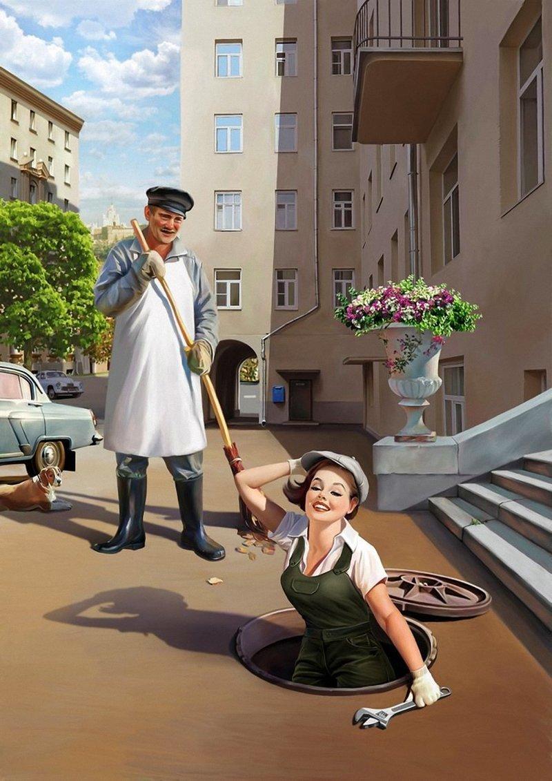 Художник Валерий Барыкин Валерий Барыкин, живопись, пин-ап, юмор