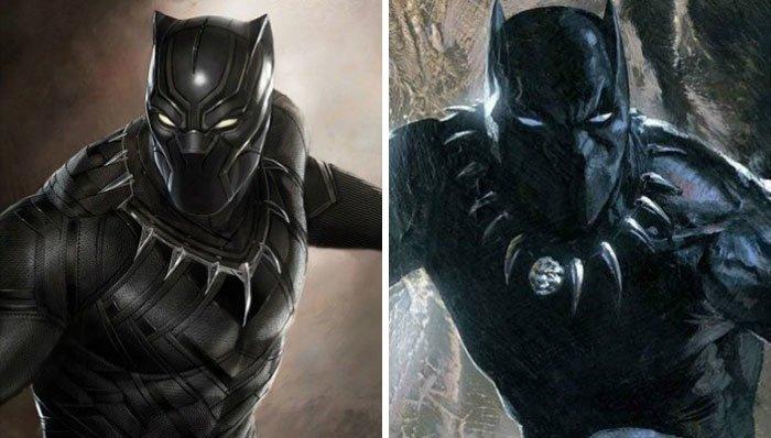 Черная Пантера герой, кино, комикс, мстители, персонаж, сравнение, фильм, фото