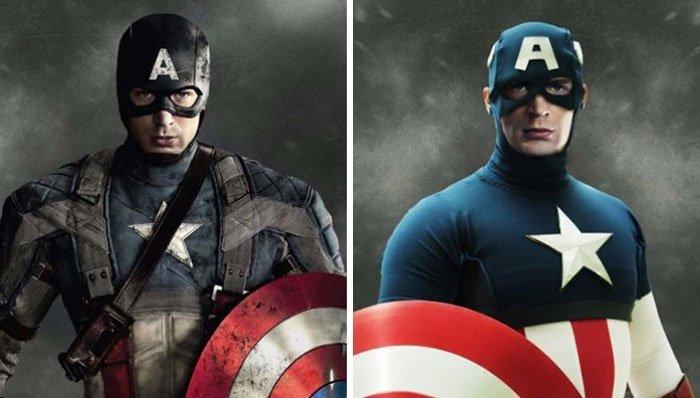 Капитан Америка герой, кино, комикс, мстители, персонаж, сравнение, фильм, фото