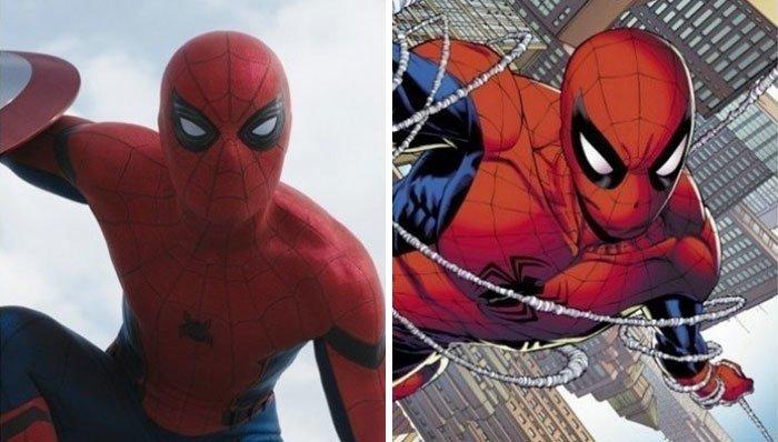 Человек-паук герой, кино, комикс, мстители, персонаж, сравнение, фильм, фото