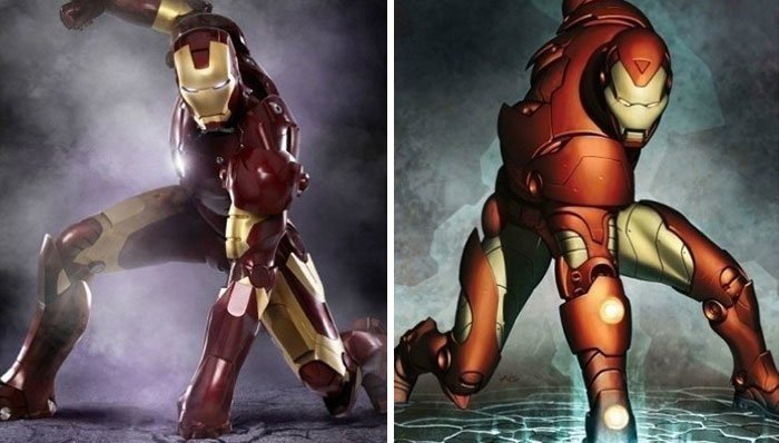 Железный человек герой, кино, комикс, мстители, персонаж, сравнение, фильм, фото