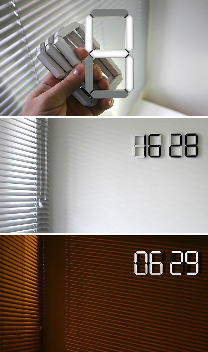 4. Настенные светодиодные часы  Стиль, вещь, дизайн, минимализм, подборка, простота, фото