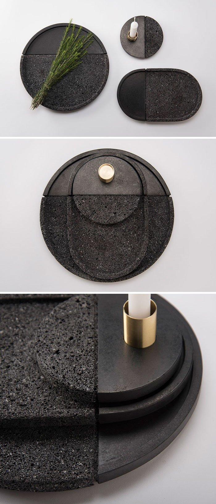 27. Набор тарелок из лавы  Стиль, вещь, дизайн, минимализм, подборка, простота, фото