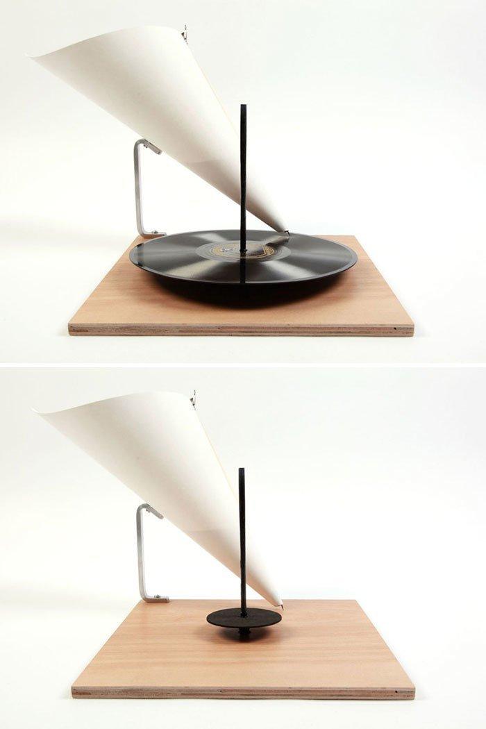 32. Граммофон в стиле минимализм  Стиль, вещь, дизайн, минимализм, подборка, простота, фото