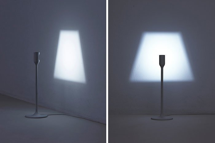 22. Лампа, проецирующая свою собственную тень  Стиль, вещь, дизайн, минимализм, подборка, простота, фото