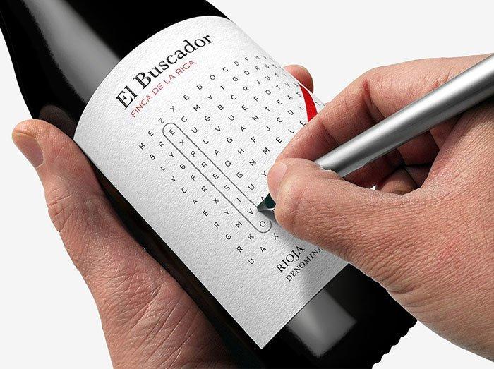 33. Интерактивная этикетка на бутылке  Стиль, вещь, дизайн, минимализм, подборка, простота, фото