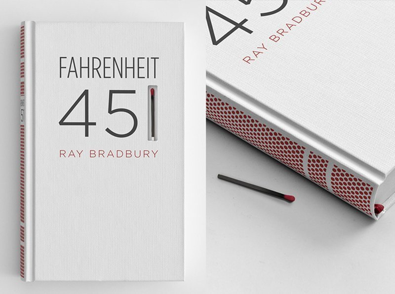 """18. Теплочувствительное издание книги """"451 градус по Фаренгейту"""" Рэя Брэдбери Стиль, вещь, дизайн, минимализм, подборка, простота, фото"""