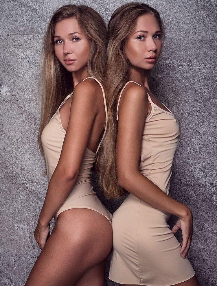 8. Оля и Олеся из Питера близняшки, девушки, красиво, фото