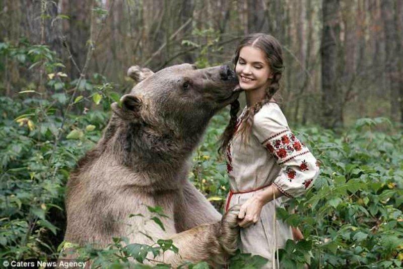 Сказочные портреты девушек с дикими животными в объективе Ольги Баранцевой девушки, животные, опасно, природа, фото, фотограф, фотосессии, хищники