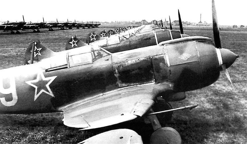Эскадрилья Ла-5ФН на аэродроме Великая Отечественная Война, СССР, история, монголия