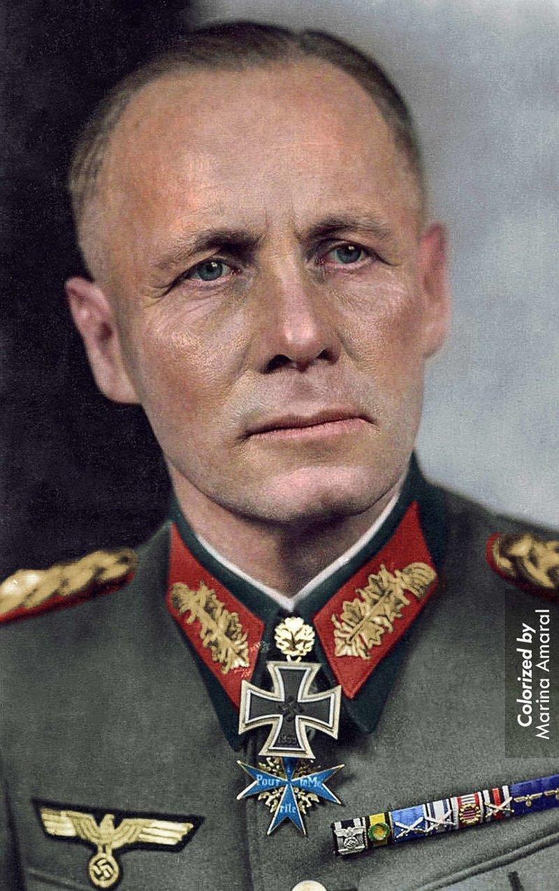 Эрвин Роммель, немецкий генерал-фельдмаршал, замешанный в покушении на Гитлера в 1944 году. Покончил жизнь самоубийством, приняв цианистый калий. история, люди, события 20 века