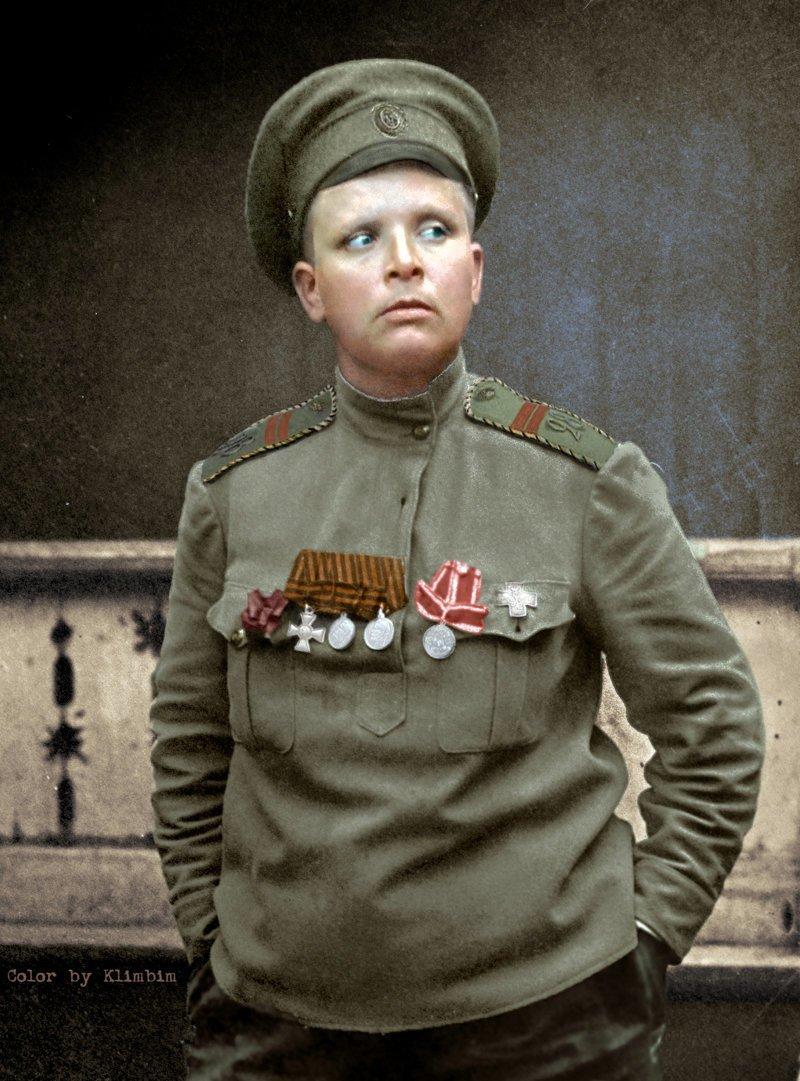 Командир женского батальона Мария Бочкарева, 1917 история, люди, события 20 века