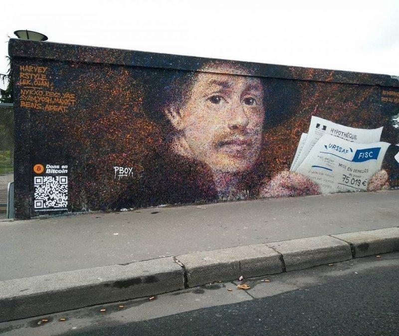 Французский художник Паскаль Бояр придумал гениальный способ получать средства за своё уличное искусство Хитрость, в мире, граффити, деньги, идея, люди, художник