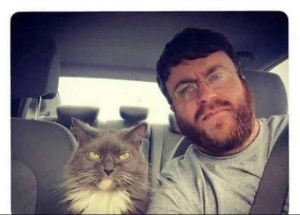 15. Мы с котом любим кататься по городу и обсуждать каждого, кто встретится нам на пути подборка приколов, смешные животные, смешные картинки с надписями, юмор
