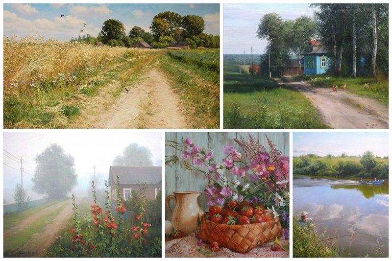 И это лишь малая часть красоты и невероятного таланта деревня, искусство, картины, красота, современные художники, талант