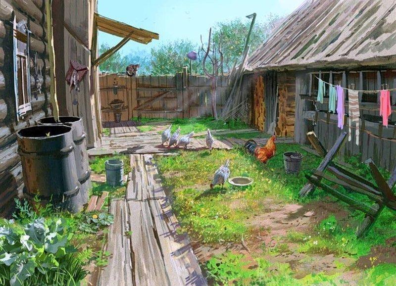 Лозинский Григорий Захарович деревня, искусство, картины, красота, современные художники, талант