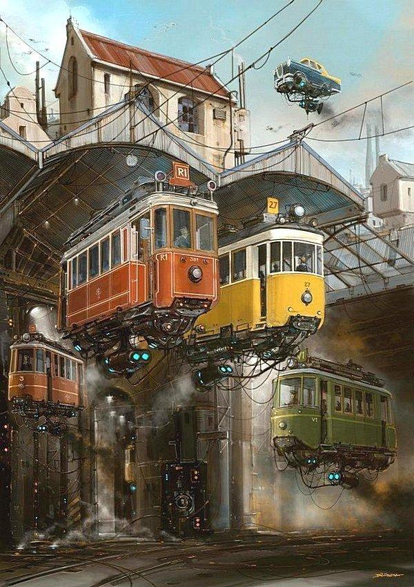 Трамвайное депо. Альтернативные Миры, творчество, художники