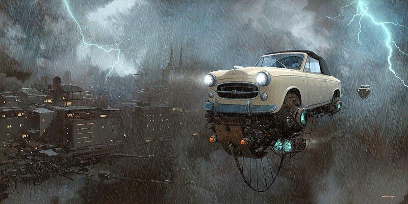 Дождь. Серия Universo Chatarra. (Вселенная хлама) Альтернативные Миры, творчество, художники