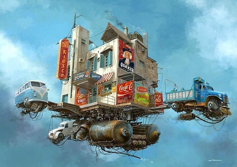 Летающий мини-рынок. Серия Universo Chatarra. (Вселенная хлама) Альтернативные Миры, творчество, художники