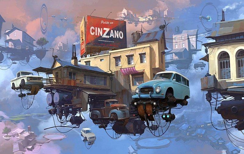 Станция Cinzano. Серия Universo Chatarra (Вселенная хлама). Альтернативные Миры, творчество, художники