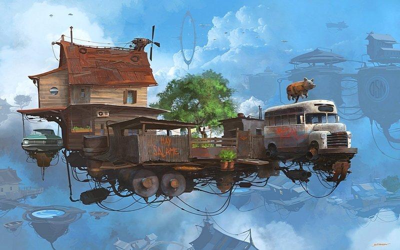 Маленькая ферма. Серия Universo Chatarra. (Вселенная хлама) Альтернативные Миры, творчество, художники