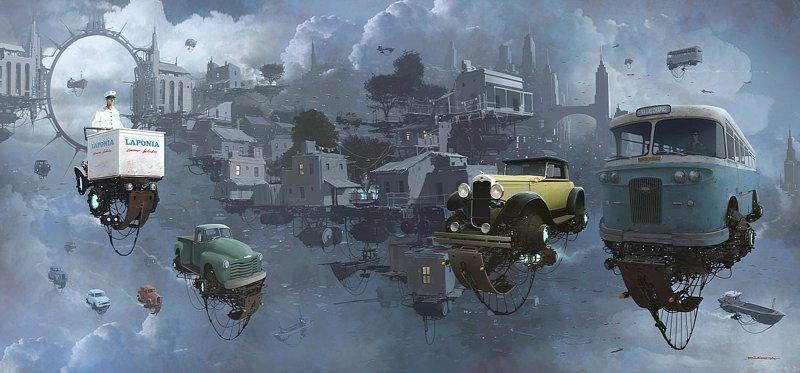 Старый район. Серия Universo Chatarra. (Вселенная хлама) Альтернативные Миры, творчество, художники