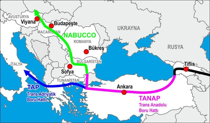 Турка газ - труба шатал TANAP, Трансанатолийский, газ, газопровод