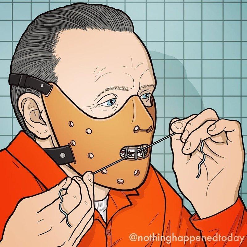 Иллюстратор показывает некоторые секреты персонажей из фильмов и мультфильмов, и это может разрушить воспоминания из детства   Эд Харрингтон, забавно, иллюстрация, персонаж, рисунок