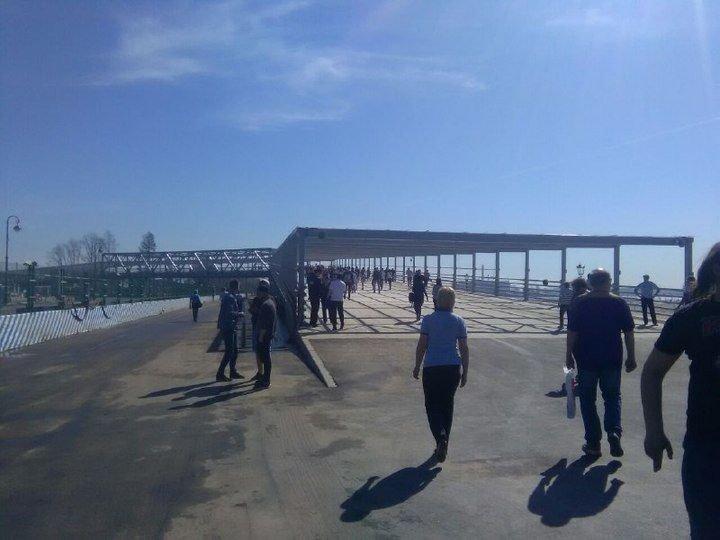 На Крестовском острове открылся второй пешеходный мост «Новокрестовская», Крестовском острове, метро, мост, санкт-петербург