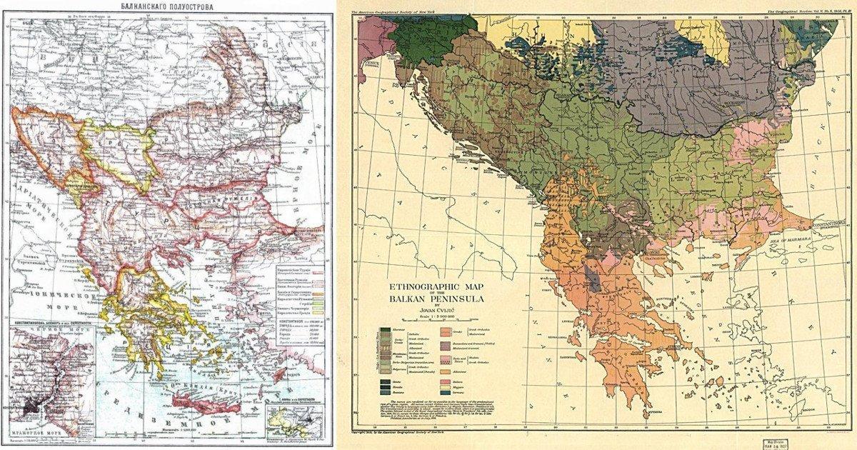 Исторические карты Балкан, которые помогут взглянуть на регион немного иначе maps, балканы, картографическая подборка, картография, карты, карты Балкан