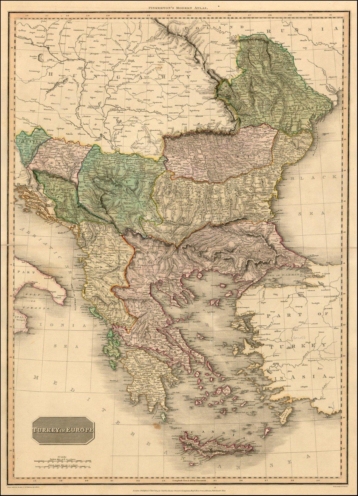 Карта 1812 года maps, балканы, картографическая подборка, картография, карты, карты Балкан