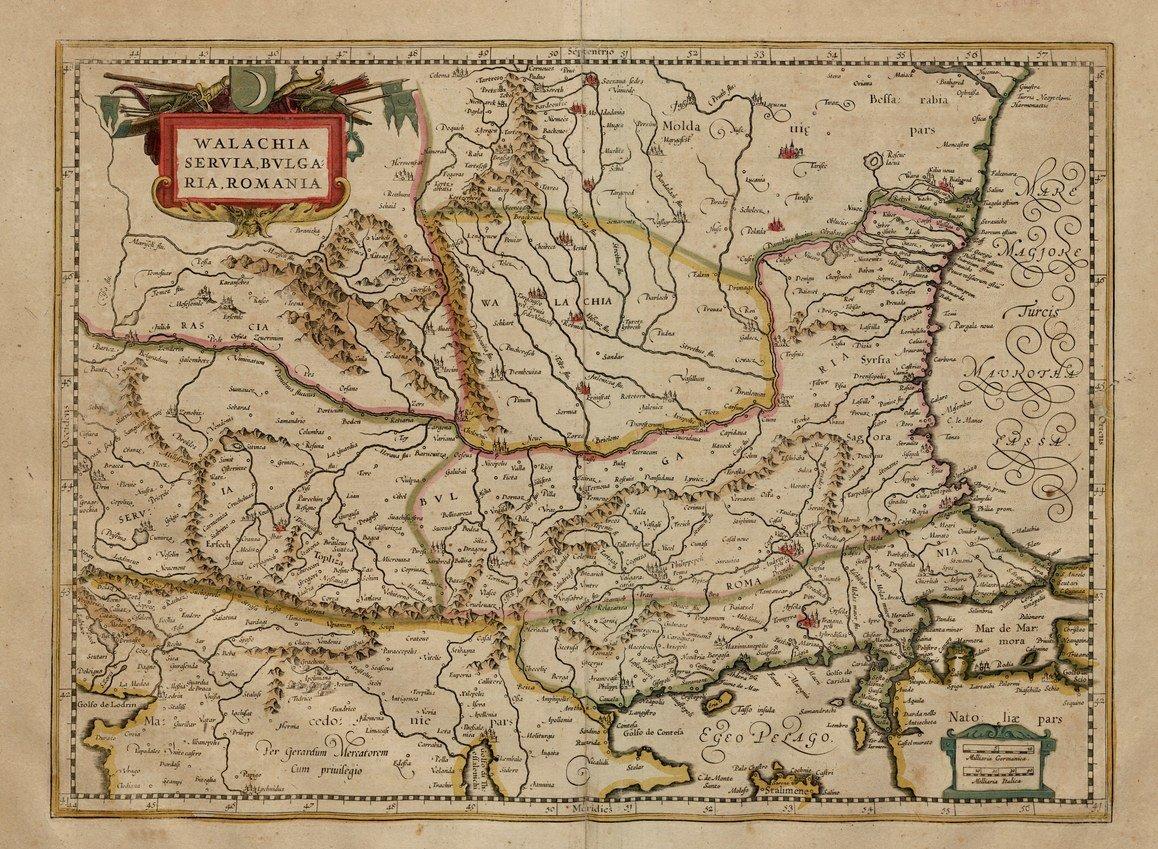 Карты Балкан, 1589 г. maps, балканы, картографическая подборка, картография, карты, карты Балкан