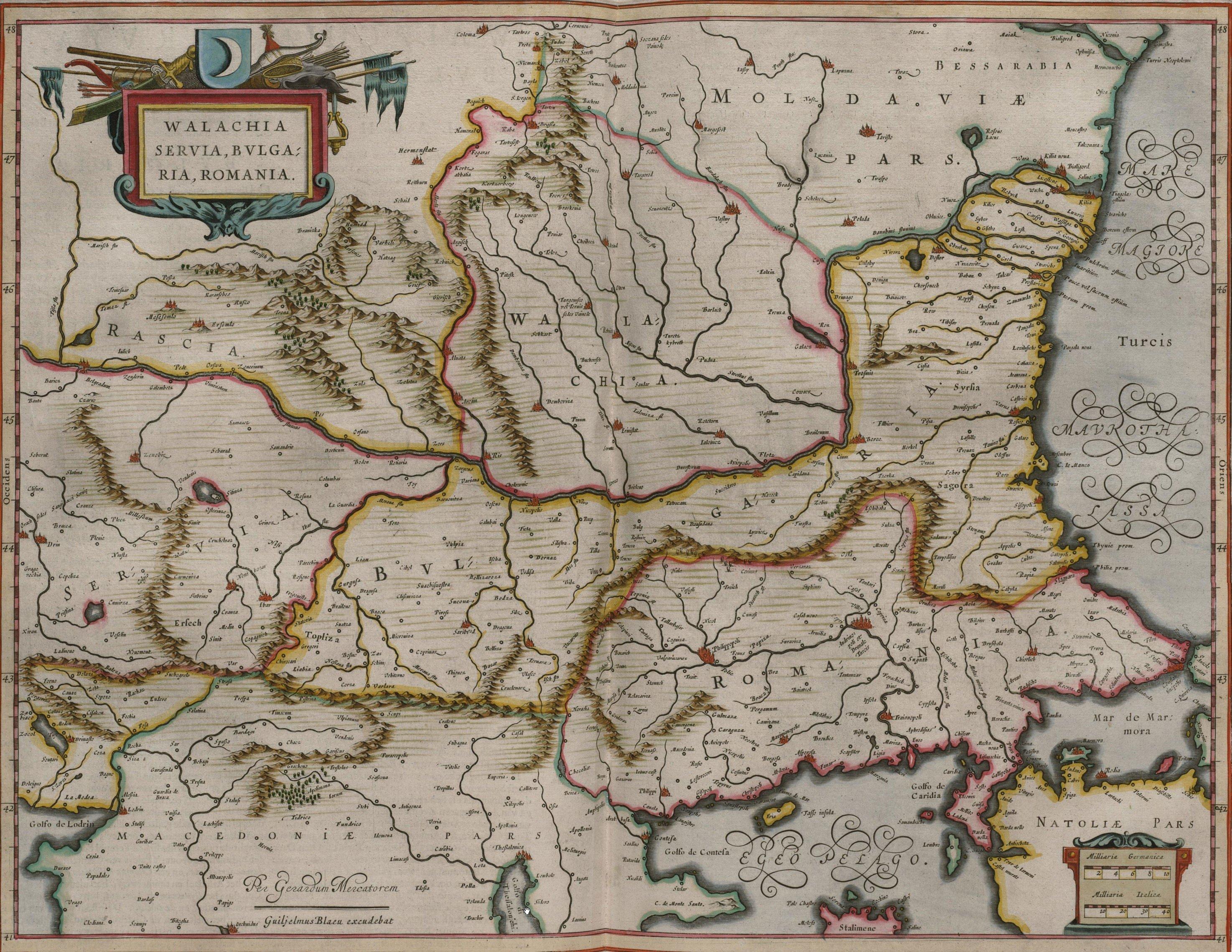 Регион в 1657 году maps, балканы, картографическая подборка, картография, карты, карты Балкан